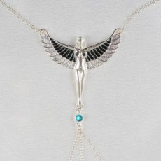 "Breast Necklace ""The Breath of Isis"" Silver"