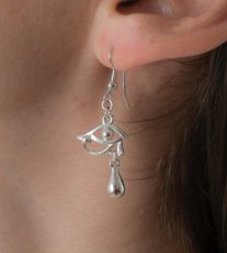 """Eye of Horus"" Earrings Silver"